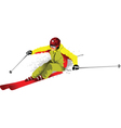 Skier silhouette vector
