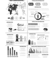 Infographic demographics population 3 grey vector