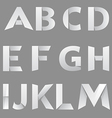 Abstract paper font letter 1 vector