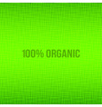 Green natural fabric texture background vector