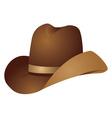 Brown cowboy hat vector