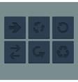 Simple grey stamp flat arrow icons set web vector