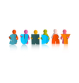 Sunday colorful title - paper cut people and vector