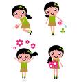 Spring flower girl vector