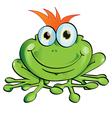 Frog cartoon vector