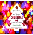 Christmas shining typographical background with vector