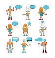 Funny robots vector