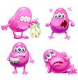 Four beanie monsters vector