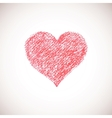 Hand drawn artistic heart pastel surface vector