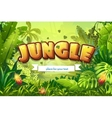 Cartoon jungle with inscription and vector
