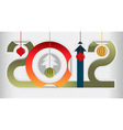 New year gift sign vector