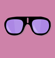 Sunglasses on pink background vector