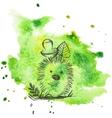 Cartoon hedgehog with mushroom vector