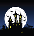 Sweet and beauty castle with bats part four vector