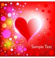 Heart shiny holiday background vector