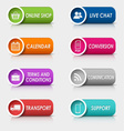 Colored set rectangular buttons web design vector