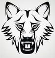 Wild wolf tribal vector