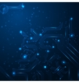 Technology background with circuit board elements vector