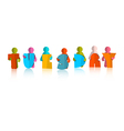 Tuesday colorful title - paper cut people and vector
