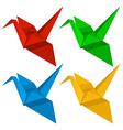 Four origami designs vector