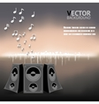 Abstract night music notes speaker background vector