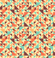 Seamless triangle background motley vector
