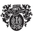 Heraldic silhouette no16 vector