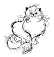 Stylized persian cat vector
