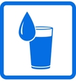 Water glass and drop vector