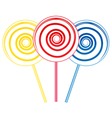 Big lollipops vector