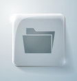 Folder for documents glass square icon vector