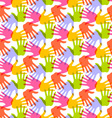 Seamless pattern print of hands vector