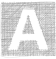 Freehand typography letter a vector