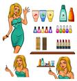 Set of cosmetics elements vector