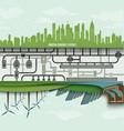 Renewable energy in the big city vector