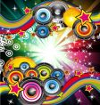 Musical event background vector