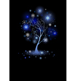 Tree with snowflakes vector