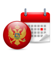 Icon of national day in montenegro vector