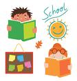 School characters set vector