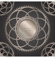 Retro background with gears vector