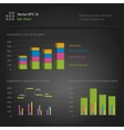Infographics bar chart vector