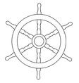 Ship wheel outline drawings vector