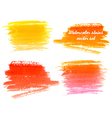 Set of abstract watercolor background with paper t vector