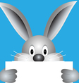 Bunny with blank sheet vector