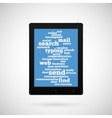 Conceptual tablet vector