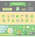 Green energy and ecology infographic set elements vector