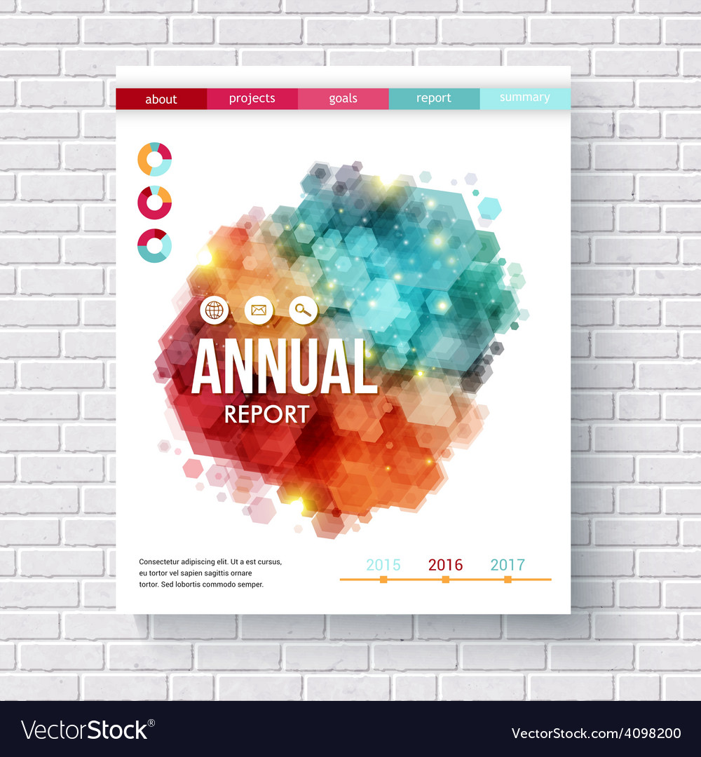 Abstract design on an annual report template vector | Price: 1 Credit (USD $1)