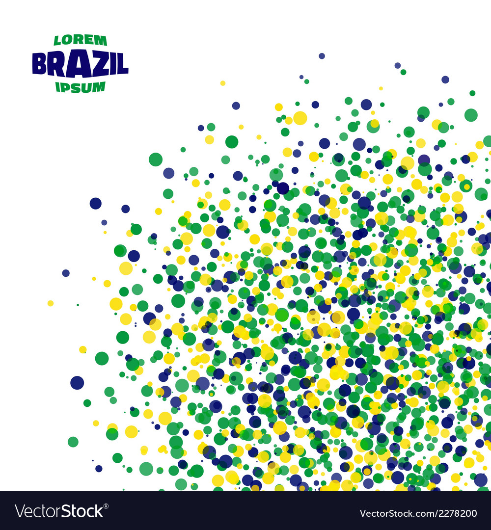 Abstract dot background using brazil flag colors vector | Price: 1 Credit (USD $1)