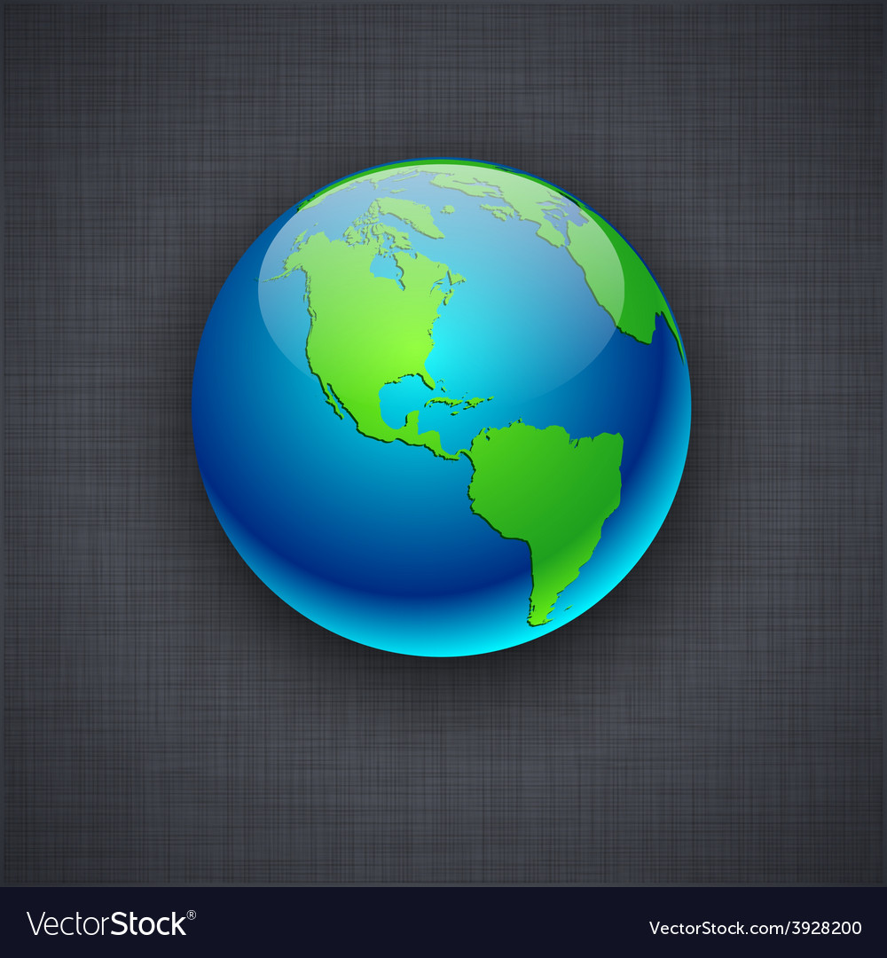 Blue earth on flax background vector   Price: 1 Credit (USD $1)