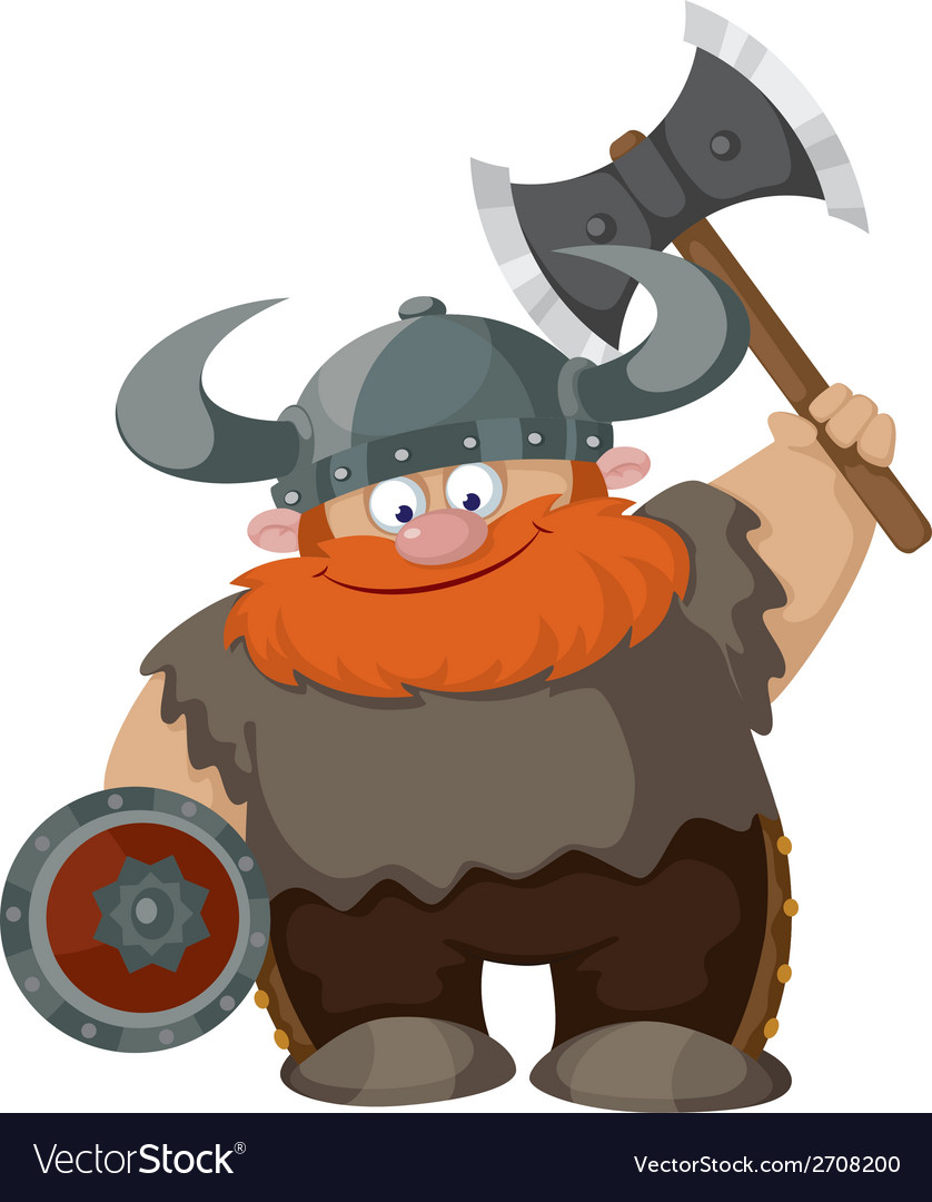 Cartoon viking vector | Price: 3 Credit (USD $3)